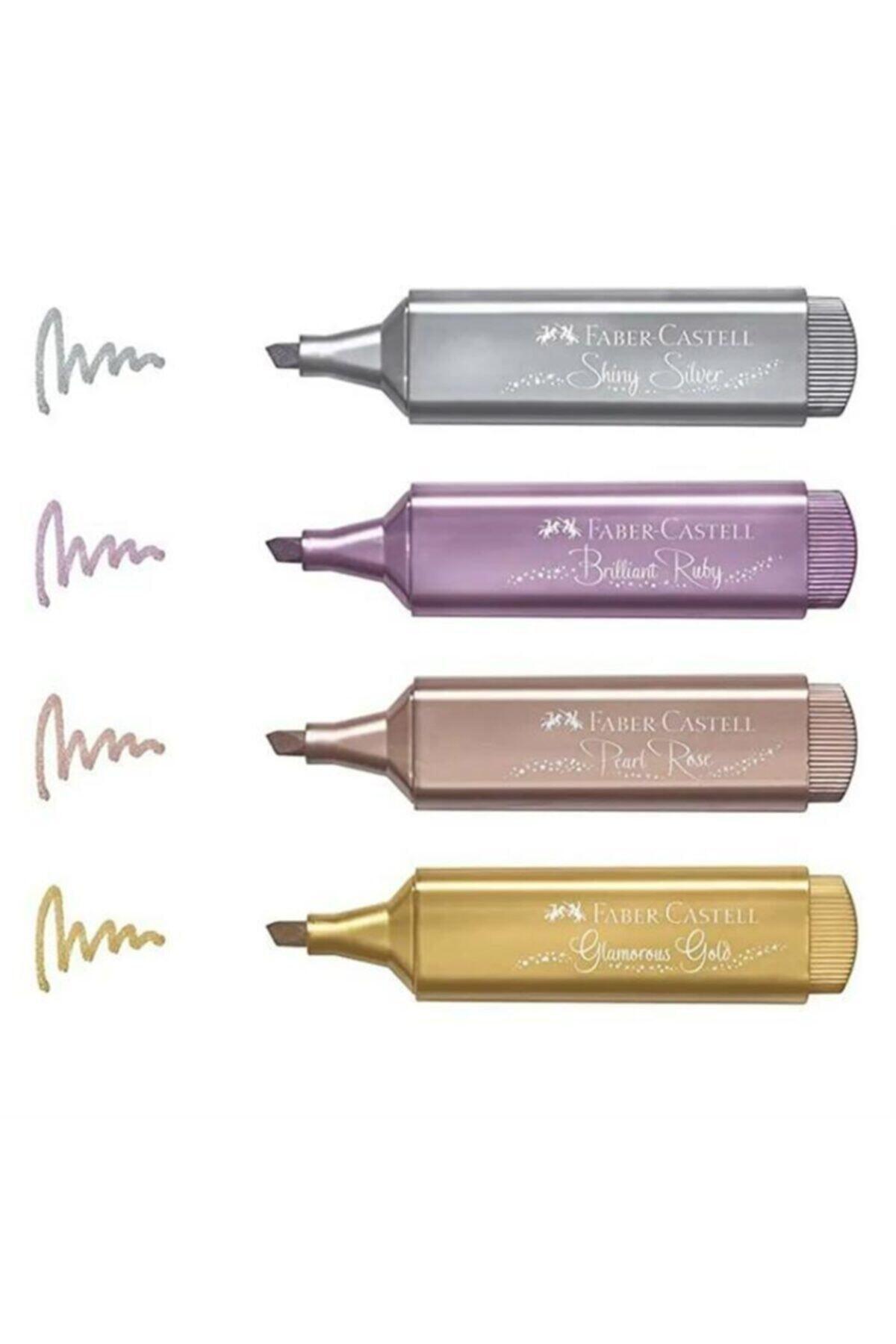 Faber Castell Fosforlu Kalem Metalik Renk 4 Lü 15 46 40 F154640 1