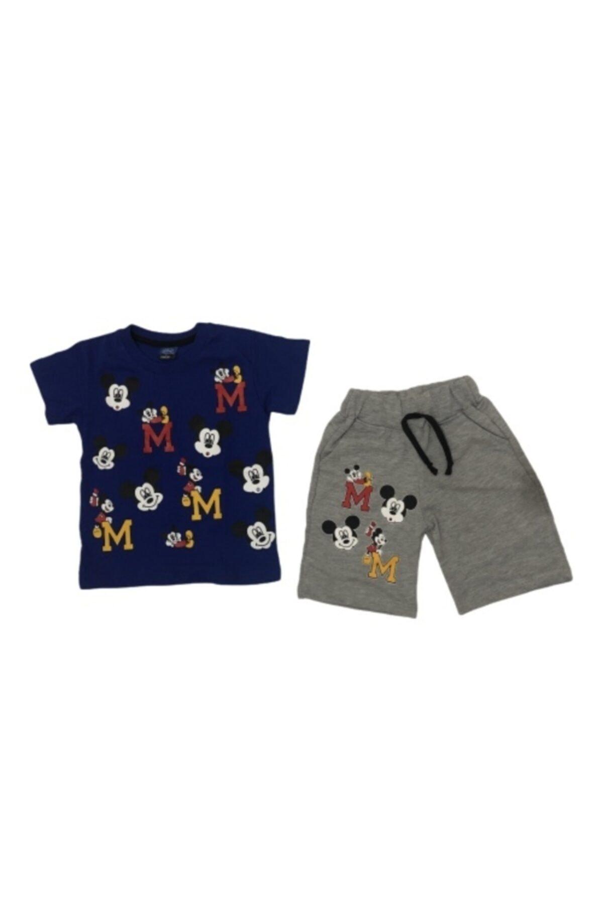 Disney Mickey Mouse Erkek Çocuk Mickey Şortlu 2'li Takım 1