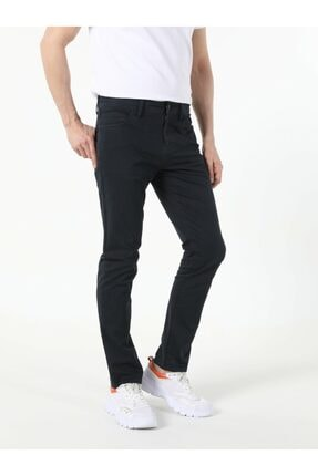 Colin's Erkek Lacivert Straight Fit Düşük Bel Pantolon