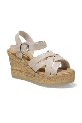 Polaris 315335.Z 1FX Gri Kadın Dolgu Topuklu Sandalet 101024591