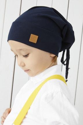 Babygiz Erkek Çocuk Lacivert Ip Detaylı 4 Mevsim Şapka Bere Buff -yumuşak Doğal Penye
