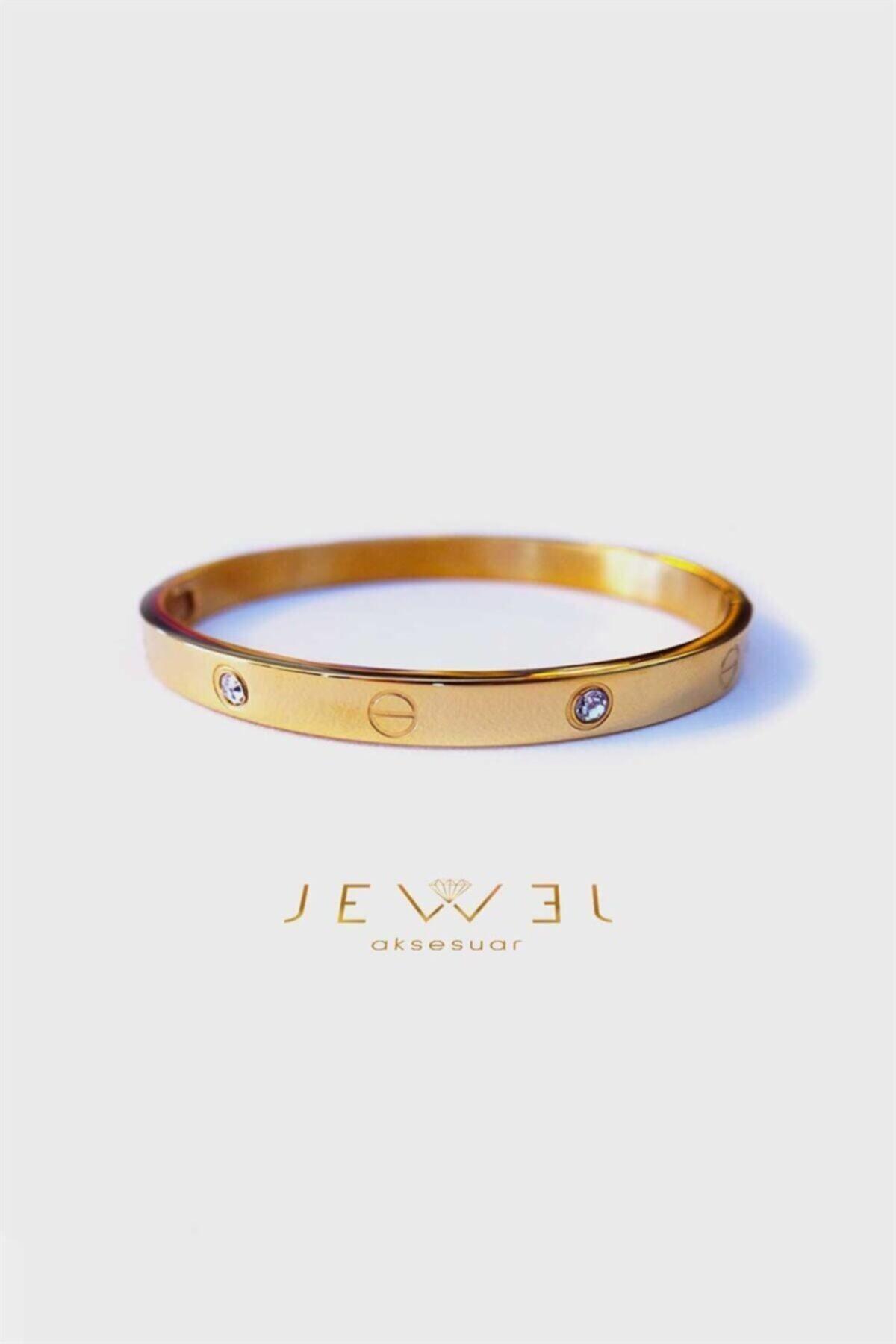Jewel C. Model Gold Altın Kaplama Taşlı Bileklik 1