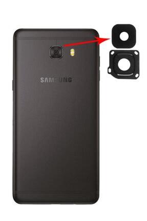 Samsung Galaxy C9 Pro Uyumlu Için Kamera Lens Kapağı Full - Siyah
