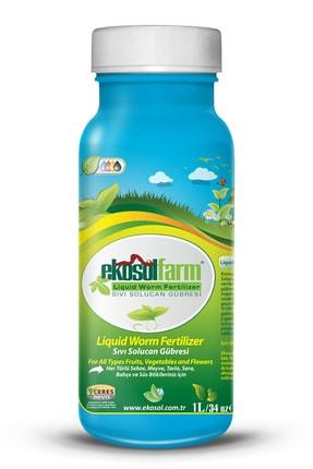 EkosolFarm Organik Sıvı Solucan Gübresi Organik Gübre 1 Litre