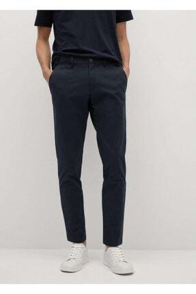 MANGO Man Erkek Lacivert Daralan Kısa Paçalı Chino Pantolon