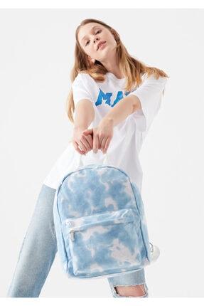 Mavi Batik Desenli Kanvas Sırt Çantası