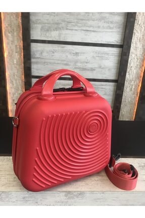 HEYBECİ ÇANTA Kırmızı Makyaj Valizi &çanta