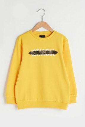 LC Waikiki Erkek Çocuk Orta Sarı G4L Sweatshirt