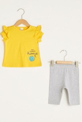 LC Waikiki Kız Bebek Orta Sarı G7U Alt-Üst Takım