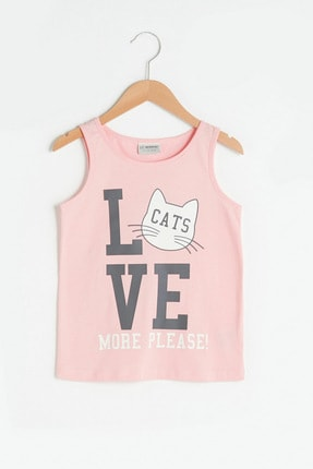 LC Waikiki Kız Çocuk Pembe Cs3 T-Shirt