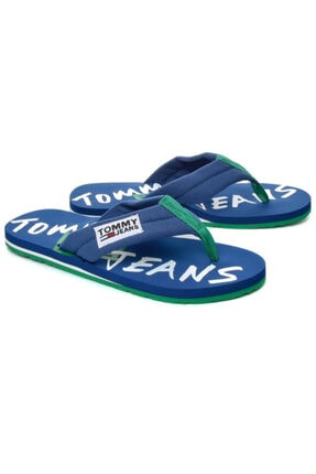 Tommy Hilfiger Erkek Mavi Parmak Arası Terlik