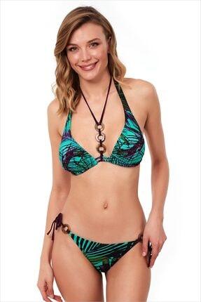 AYYILDIZ Kadın Yeşil Üçgen Kesimli Bikini Takımı 1563