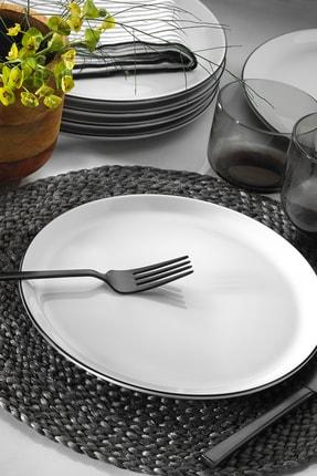 Porland 6'lı Modern Siyah Fileli Servis Tabağı Seti