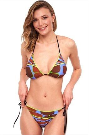 AYYILDIZ Kadın Mor Üçgen Kesimli Bikini Takımı 1571