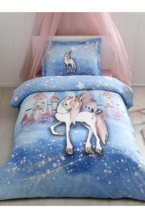 Özdilek Unicorn Dream Tek Kişilik Fosforlu Nevresim Takımı Mavi