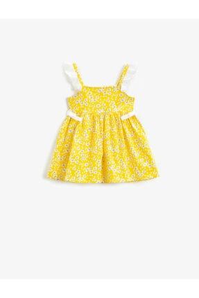 Koton Kız Çocuk Çiçekli Elbise Pamuklu Askili