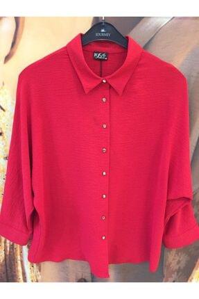 Journey Kırmızı Düz Renk Gömlek