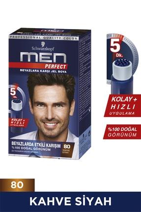 Men Perfect Saç Boyası 80 - Kahve Siyah