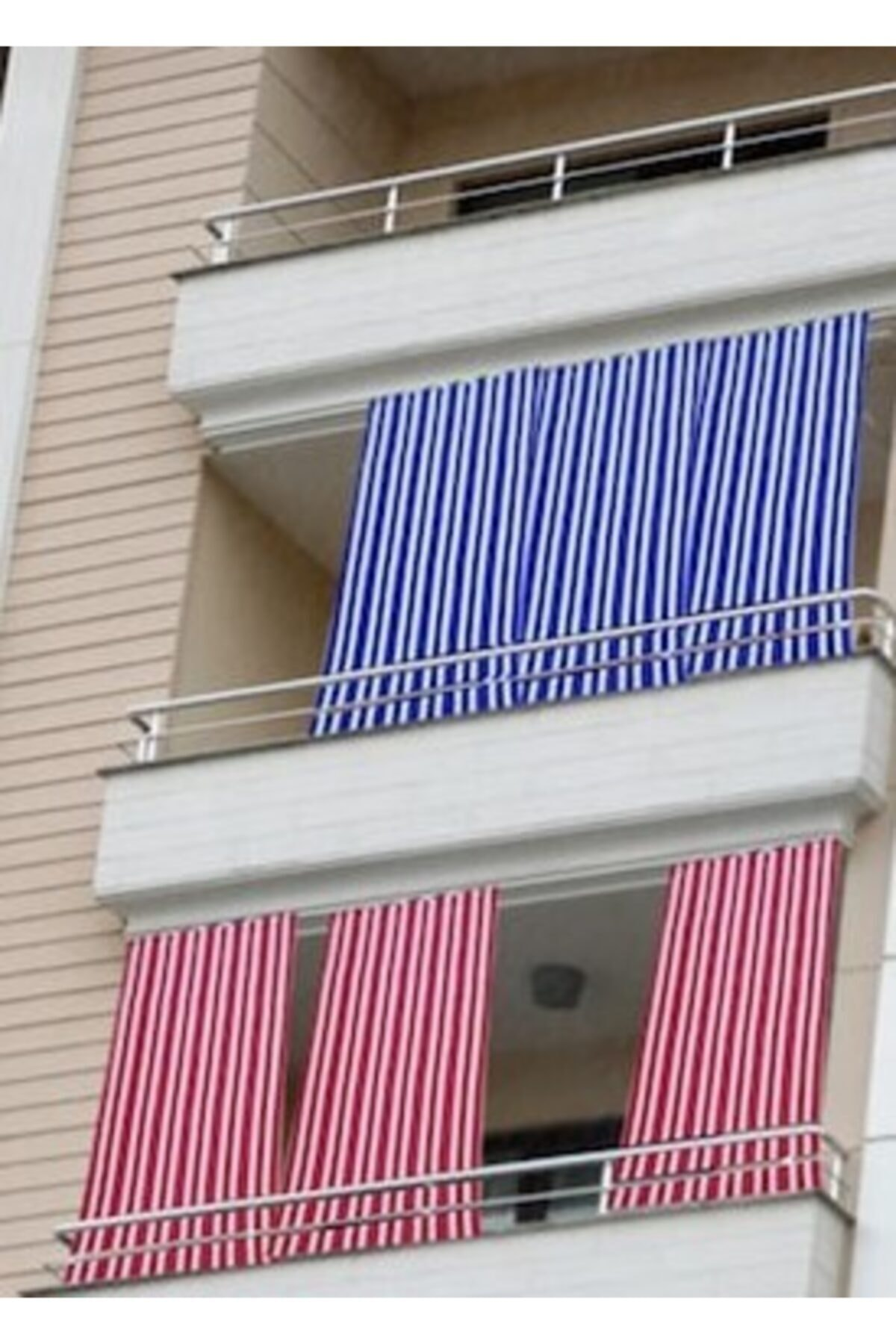 ERCANLI Balkon Perdesi Branda Kumaşı-yağmur Geçirmez-kalın-bağcıklı-düğmeli-rengi Mesaj Ile Bildirinlütfen 1