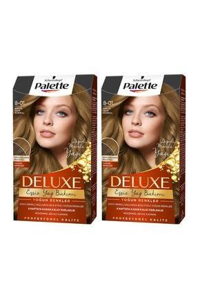 Palette Deluxe Yoğun Renkler 8-01 Küllü Açık Kumral X 2 Adet