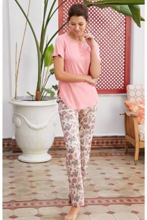 Eros Kadın Esk28602 Modal Çicek O Patlı Kk.pijama Takım 21y