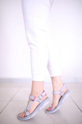 Luxx Kadın Günlük Gri Sandalet