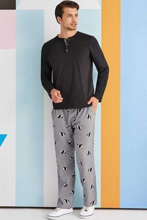 ROLY POLY Erkek Siyah Pijama Takımı