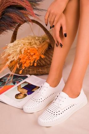 SOHO Beyaz Kadın Casual Ayakkabı 16230