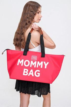 Trend Alaçatı Stili Kadın Kırmızı Omuz Askılı Mommy Bag ALC-A2210