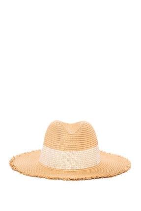 Mavi Hasır Şapka