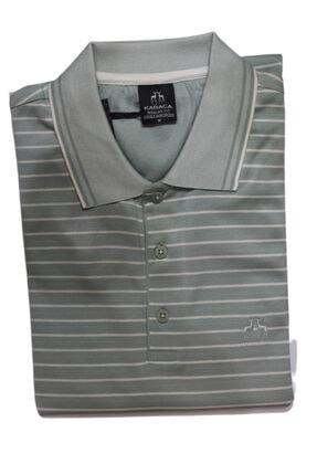 Karaca Erkek Çift Geyik Düğmeli Cepli Merserize Polo Yaka T-shirt