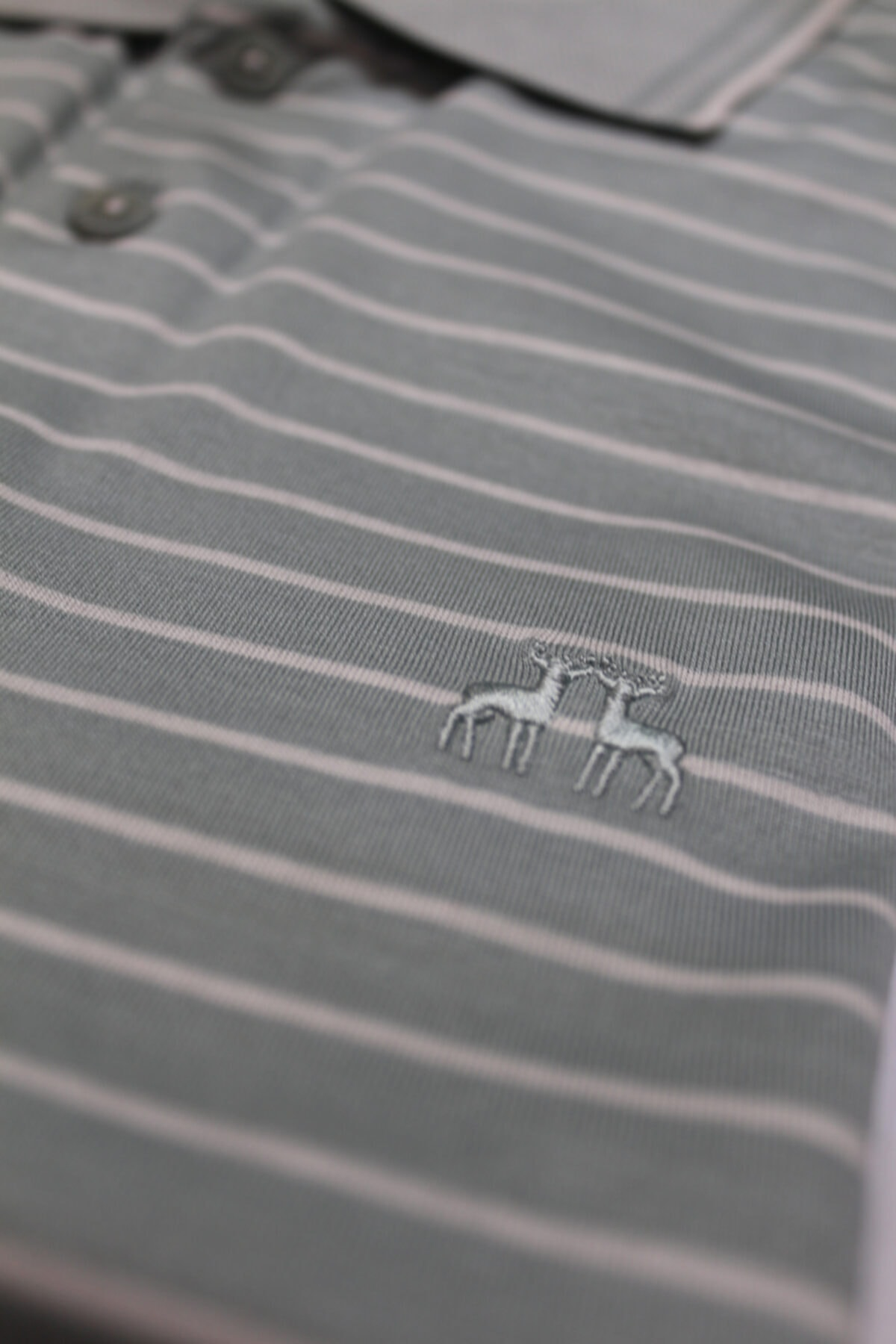 Karaca Erkek Çift Geyik Düğmeli Cepli Merserize Polo Yaka T-shirt 2