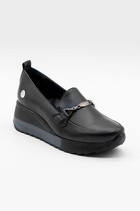 Mammamia Kadın Siyah Tokalı Dolgu Topuklu Ayakkabı
