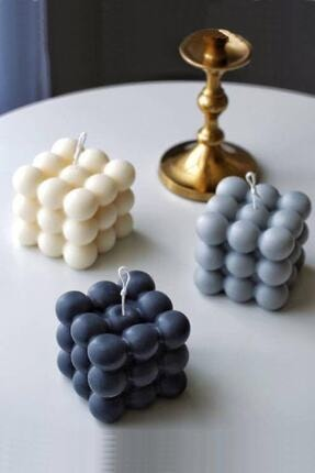 Otantik Bubble Candle Mum, Kokulu Dekoratif Mum El Yapımı %100 Doğal Mum