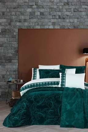 Elart Çeyiz Paketi 10 Parça (yatak Örtüsü+nevresim Takımı+pike) Oscar Zümrüt Yeşili