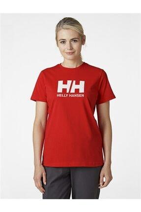 Helly Hansen Kadın Kırmızı Pamuklu Helly Hansen Logo T-Shirt