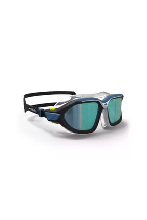 HUHULOGY Yüzücü Maskesi - Yetişkin Deniz Gözlüğü- Mavi / Siyah - Aynalı Camlı - L Boy - Actıve Nabaıjı