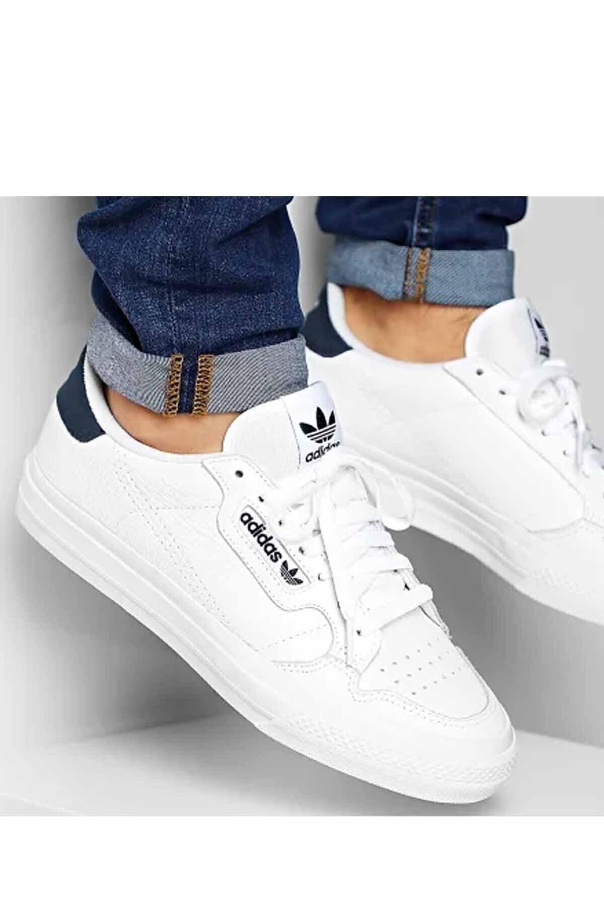 adidas Unisex Beyaz Contınental Vulc Spor Ayakkabı 1