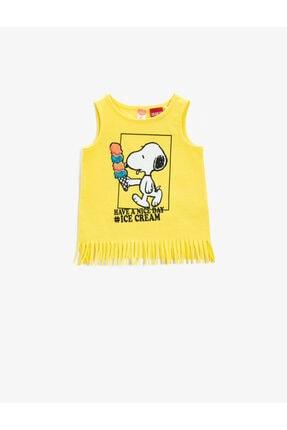 Koton Snoopy Atlet Pamuklu Püsküllü Lisansli Baskili