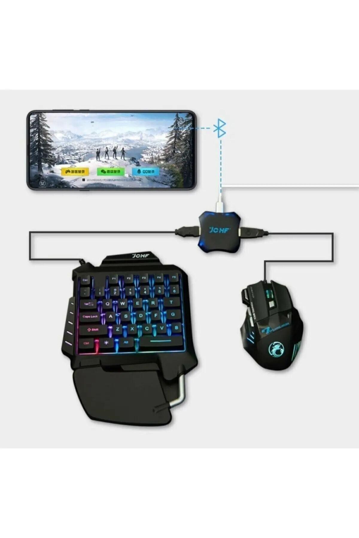 Gate Pubg Oyun Konsolu 3in1-klavye Mouse Bağlayıcı 3 Lü Set Mükemmel Kontrol Pubg Anlaşmalı 1