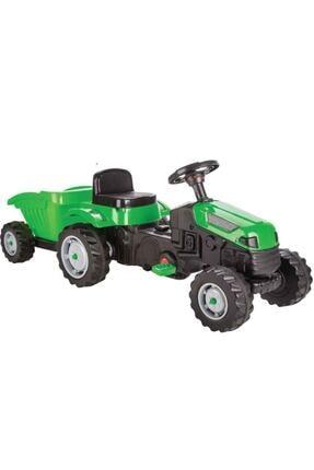 PİLSAN Unisex Çocuk Yeşil Active Römorklu Traktör Pedallı 07-316