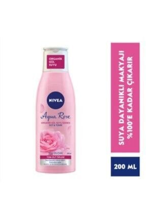 Nivea Aqua Rose Organik Gül Suyu Içeren Süt & Tonik 200 Ml