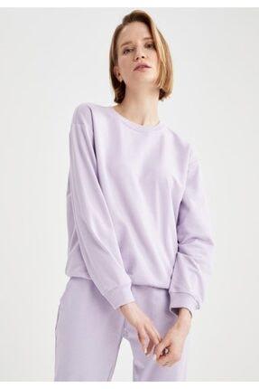 DeFacto Basic Düşük Omuzlu Sweatshirt