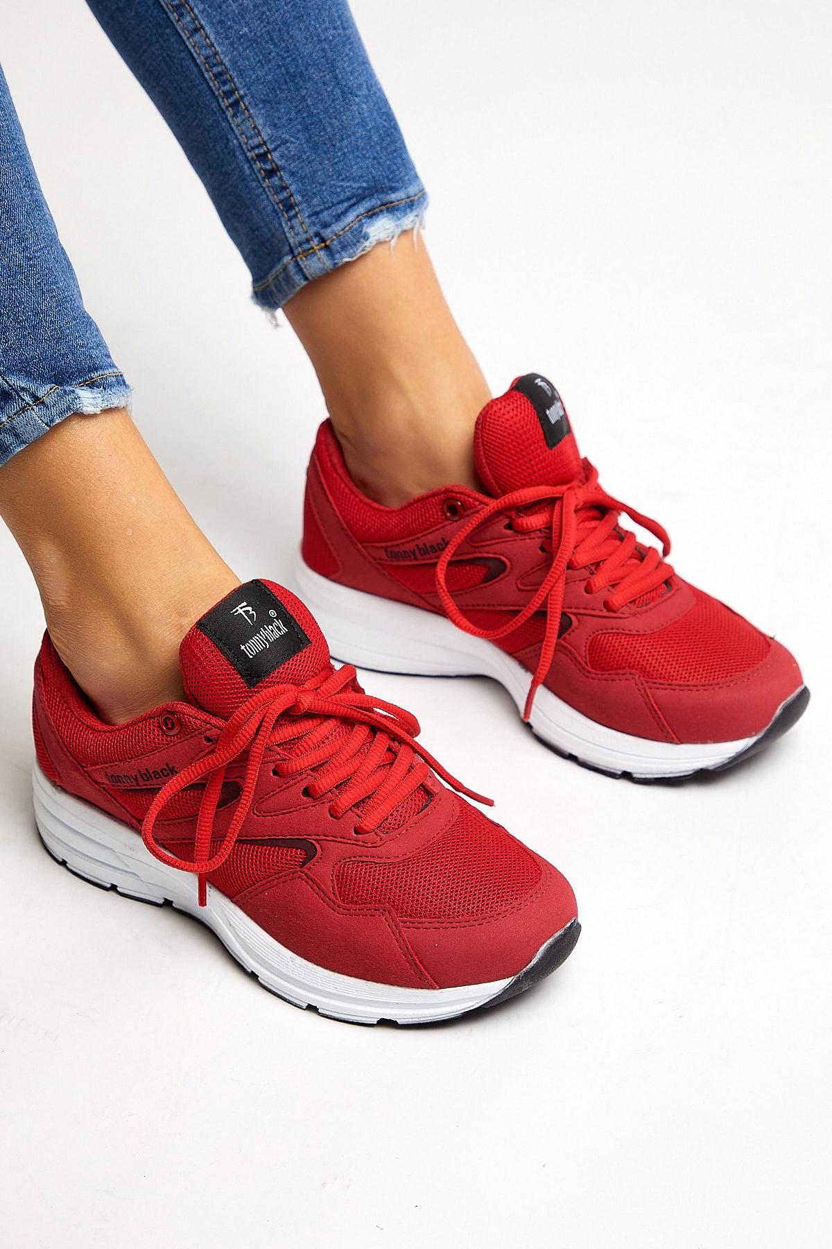 Tonny Black Unısex Spor Ayakkabı Kırmızı 772 2