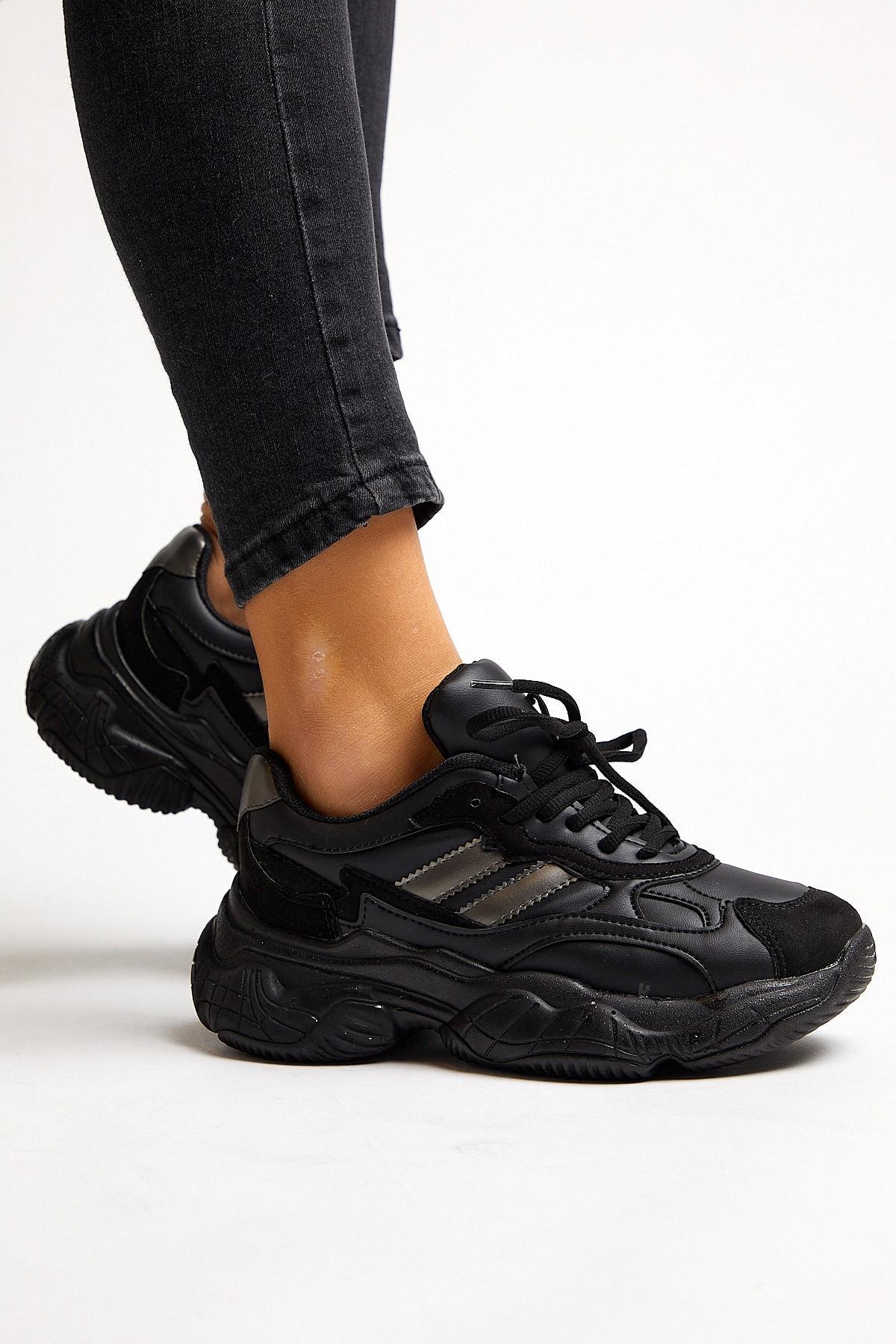 Tonny Black Kadın Siyah Spor Ayakkabı Tb246 2