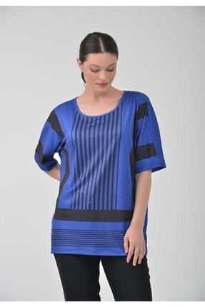 TOLGA SARAÇOĞLU - 20y1191 Geometrik Desenli Örme Bluz