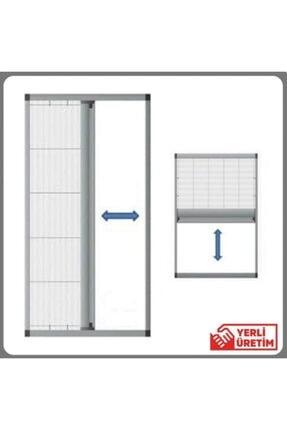 KARABEYOĞULLARI Açık Gri Plise Sineklik Akordiyon Sürgülü Pileli Sineklik Kapı Ve Pencere 40-60x40-60 Ölçeri