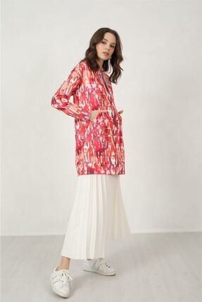 Moodbasic Kadın Batik Desen Krep Sweatshırt