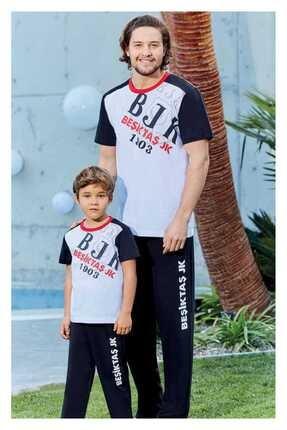 ROLY POLY Erkek Beyaz Süprem Beşiktaş Pijama Takımı