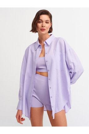 Dilvin Kadın Leylak Salaş Gömlek  5854